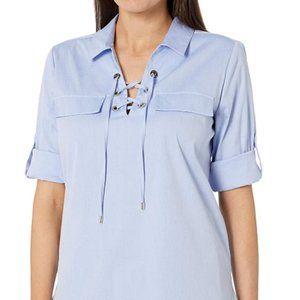 Women's stripe lace shirt